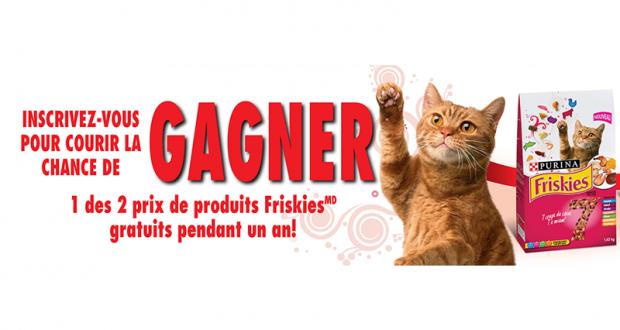 Nourriture pour chats Friskies pendant 1 an