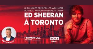 Voyage pour voir Ed Sheeran à Toronto