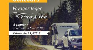 Une roulotte Prolite Mini 2018 (19,499$)