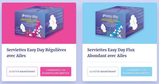 Échantillons gratuits des produits Easy Day