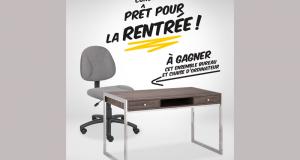 Ensemble bureau et chaise d'ordinateur