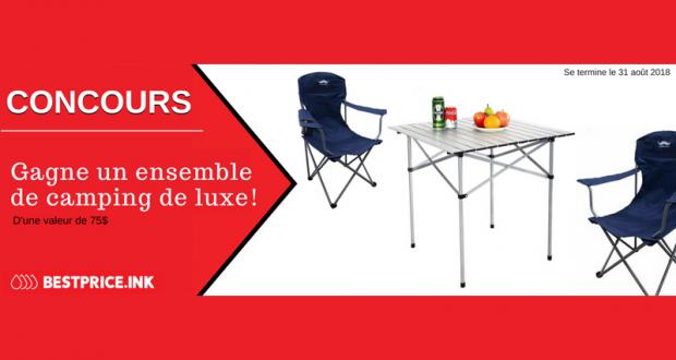 Gagnez un ensemble de camping de luxe