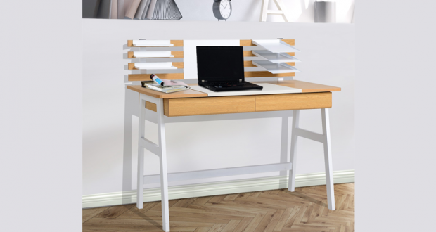Bureau pour ordinateur felix chêne gris emob