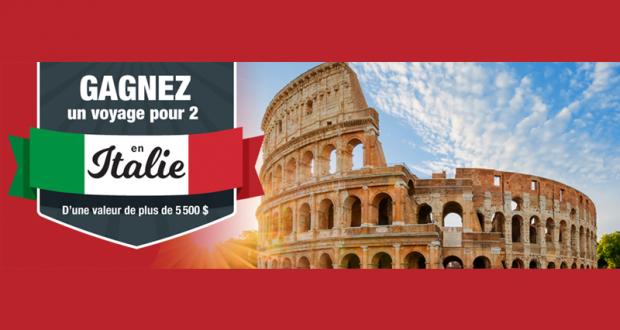 Gagnez un voyage de 8 jours pour 2 personnes en Italie (5500$)