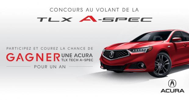 Gagnez une Acura TLX Tech A-Spec 2019 pour un an (17'223$)