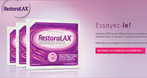 Recevez un échantillon gratuit de RestoraLAX