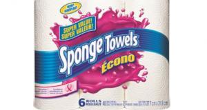 Emballage de 6 rouleaux d'essuie-tout Sponge Towels Econo à 2,88$