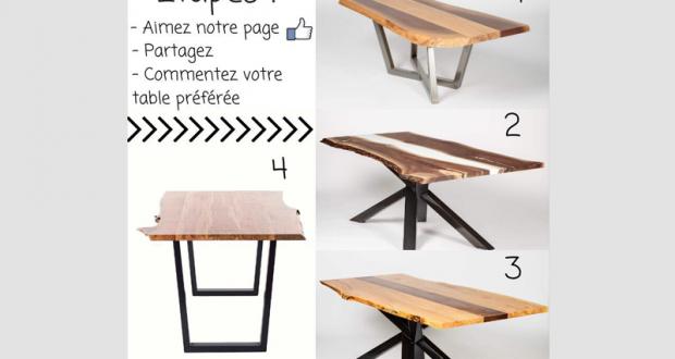 Gagnez Une table offerte par Concept M Rustique