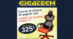 Gagnez une magnifique chaise de jeu d'une valeur de 325$