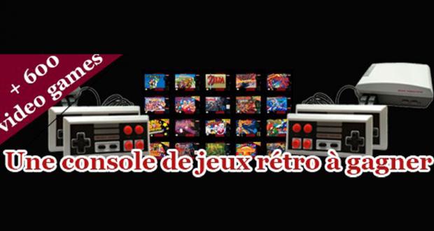 Une console de jeux rétro