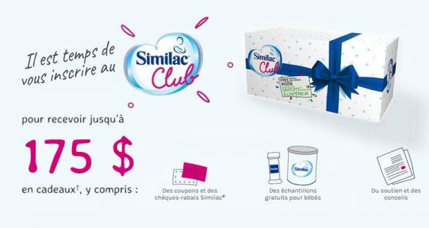175 $ en échantillons gratuits Similac