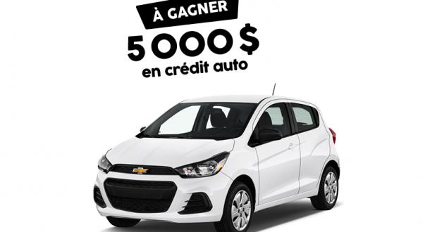 Crédit auto de 5 000 $