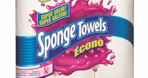 Emballage de 6 rouleaux d'essuie-tout Sponge Towels Econo à 2,77$