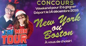 Un weekend pour 2 personnes à Boston ou New York