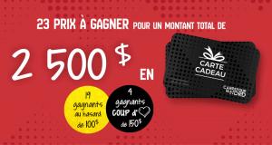 2 500 $ en cartes-cadeaux du Carrefour du Nord