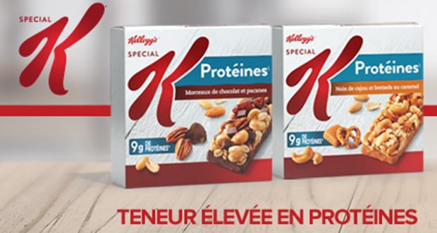 Barres granola Special K gratuites