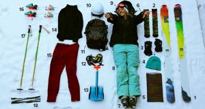 Vêtements pour le ski d'une valeur de 4000$
