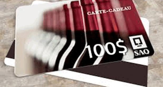 Une carte-cadeau de 100$ à la SAQ