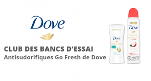 Club des bancs d'essai - Dove Body Wash