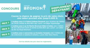 Gagnez 1 des 3 forfaits pour 2 personnes à Bromont