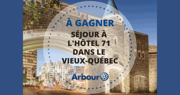 Un séjour pour deux à l'Hotel 71 dans le vieux Québec