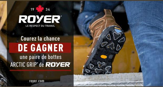 Gagnez une paire de bottes ARCTIC GRIP de ROYER