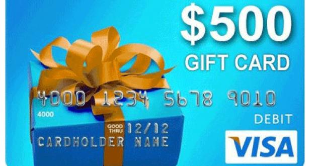 Une carte-cadeau Visa prépayée de 500$