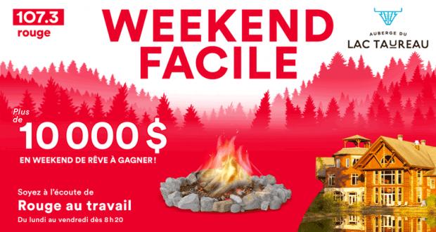 10 000 $ en forfaits weekend à l'Auberge du Lac Taureau