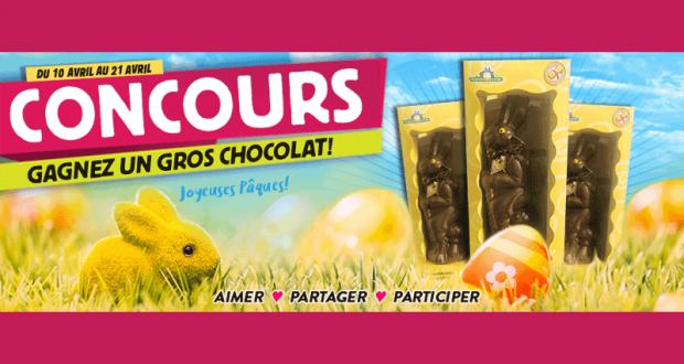 Gagnez l'un des 3 lapins en chocolat
