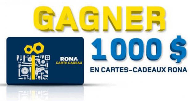 Une carte-cadeau RONA de 1 000 $