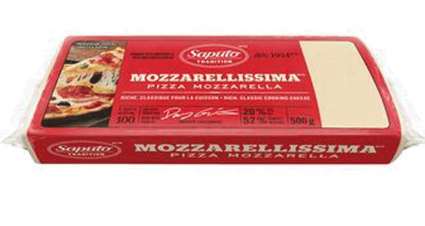 Barre de fromage Mozzarellissima Saputo 500g à 3.99$