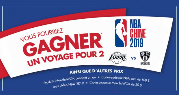 Gagnez un Voyage pour 2 pour voir la NBA en Chine