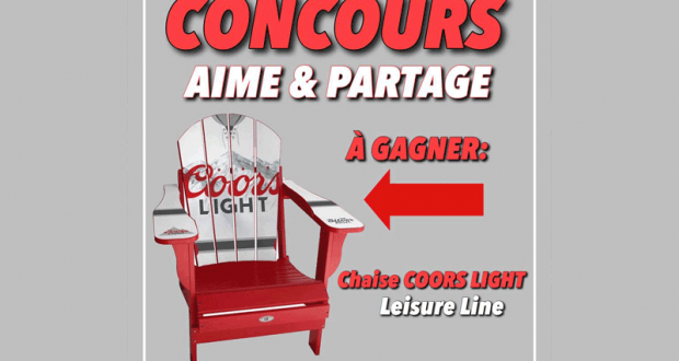 Une chaise COORS LIGHT Leisure Line