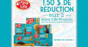 Coupon de 1.50$ à l'achat de produits Enjoy Life Foods