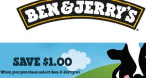 Coupon de 1$ sur un produit Ben & Jerry's