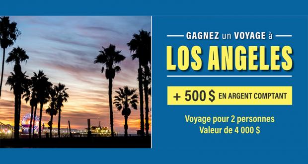 Gagnez un voyage pour 2 à Los Angeles (Valeur de 4000$)
