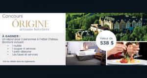 Séjour pour deux personnes à l'Hôtel Château Bromont