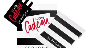 Une carte-cadeau Sephora de 200$