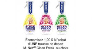 Coupon de 1$ à l'achat d'1 trousse de départ M. Net Clean Freak
