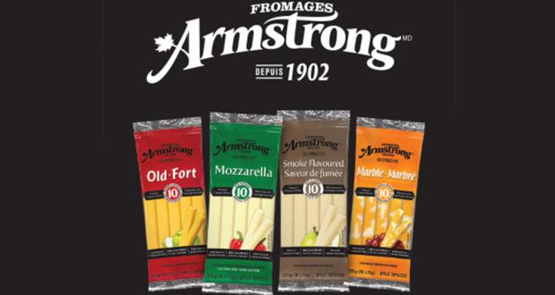 Coupon de 1$ sur les bâtonnets de fromage Armstrong