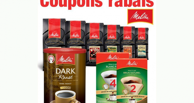 Coupons Rabais sur des produits Melitta