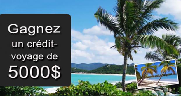 Gagnez 5000$ en crédit voyage pour la destination de vos rêves