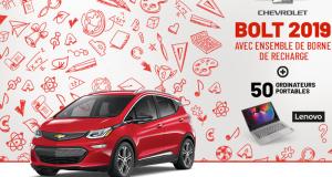 Gagnez une Chevrolet Bolt EV Premier 2019 (Valeur de 52.290$)