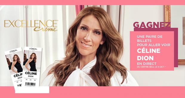 Une paire de billets pour le spectacle de Céline Dion