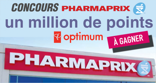 1 million de points PC Optimum (Valeur de 1000$)