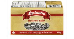 Beurre salé Lactantia à 2.98$