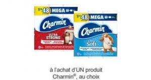 Coupon de 50 ¢ à l'achat d'UN produit Charmin au choix