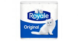 Emballage de 8 rouleaux doubles de papier hygiénique Royale à 2.33$