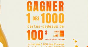 Gagnez 1000 cartes-cadeaux d'épicerie de 100$ chacune