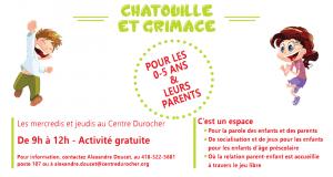 Chatouille et Grimace pour les 0-5 ans et leurs parents